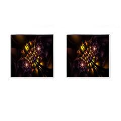 Art Design Image Oily Spirals Texture Cufflinks (Square)