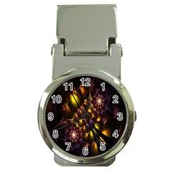 Art Design Image Oily Spirals Texture Money Clip Watches