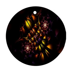 Art Design Image Oily Spirals Texture Round Ornament (two Sides)