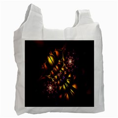 Art Design Image Oily Spirals Texture Recycle Bag (Two Side)