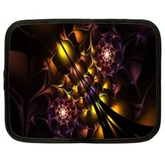 Art Design Image Oily Spirals Texture Netbook Case (XXL)