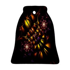 Art Design Image Oily Spirals Texture Bell Ornament (two Sides)