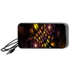 Art Design Image Oily Spirals Texture Portable Speaker (Black)