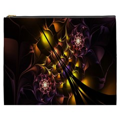 Art Design Image Oily Spirals Texture Cosmetic Bag (XXXL)