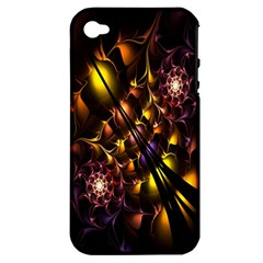 Art Design Image Oily Spirals Texture Apple iPhone 4/4S Hardshell Case (PC+Silicone)