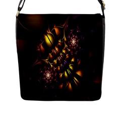 Art Design Image Oily Spirals Texture Flap Messenger Bag (L)