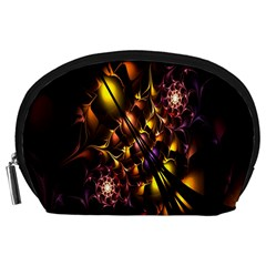 Art Design Image Oily Spirals Texture Accessory Pouches (Large)