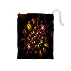 Art Design Image Oily Spirals Texture Drawstring Pouches (Medium)