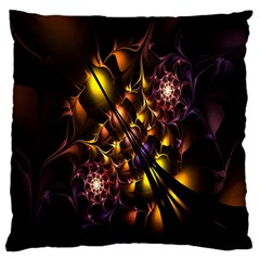 Art Design Image Oily Spirals Texture Large Flano Cushion Case (Two Sides)