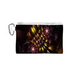 Art Design Image Oily Spirals Texture Canvas Cosmetic Bag (S)