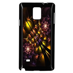 Art Design Image Oily Spirals Texture Samsung Galaxy Note 4 Case (Black)