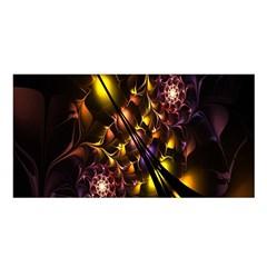 Art Design Image Oily Spirals Texture Satin Shawl