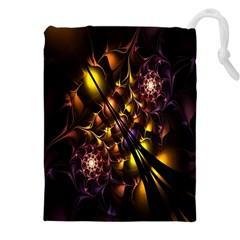Art Design Image Oily Spirals Texture Drawstring Pouches (xxl)