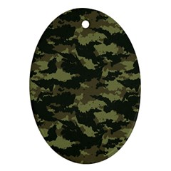 Camo Pattern Ornament (Oval)