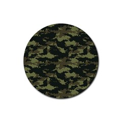 Camo Pattern Rubber Round Coaster (4 pack)