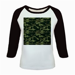 Camo Pattern Kids Baseball Jerseys
