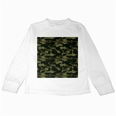 Camo Pattern Kids Long Sleeve T-Shirts