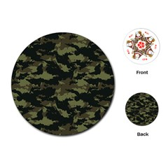 Camo Pattern Playing Cards (Round)