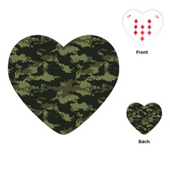 Camo Pattern Playing Cards (Heart)