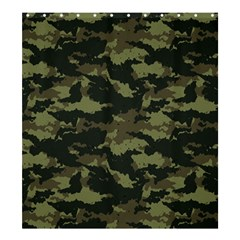 Camo Pattern Shower Curtain 66  x 72  (Large)