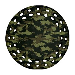 Camo Pattern Round Filigree Ornament (Two Sides)