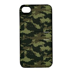 Camo Pattern Apple iPhone 4/4S Hardshell Case with Stand