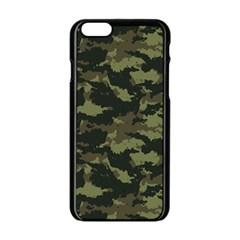 Camo Pattern Apple iPhone 6/6S Black Enamel Case