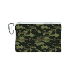 Camo Pattern Canvas Cosmetic Bag (s)