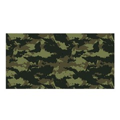 Camo Pattern Satin Shawl