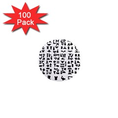 Anchor Puzzle Booklet Pages All Black 1  Mini Magnets (100 Pack)
