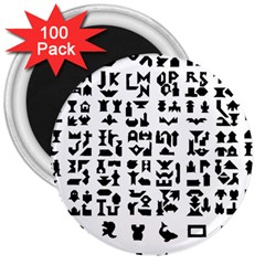 Anchor Puzzle Booklet Pages All Black 3  Magnets (100 Pack)