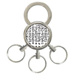 Anchor Puzzle Booklet Pages All Black 3-Ring Key Chains