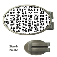 Anchor Puzzle Booklet Pages All Black Money Clips (Oval)