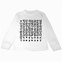 Anchor Puzzle Booklet Pages All Black Kids Long Sleeve T-Shirts