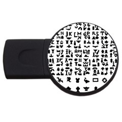 Anchor Puzzle Booklet Pages All Black Usb Flash Drive Round (4 Gb)