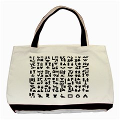 Anchor Puzzle Booklet Pages All Black Basic Tote Bag
