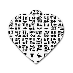 Anchor Puzzle Booklet Pages All Black Dog Tag Heart (Two Sides)