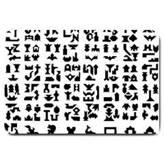 Anchor Puzzle Booklet Pages All Black Large Doormat