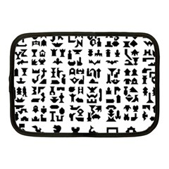 Anchor Puzzle Booklet Pages All Black Netbook Case (Medium)