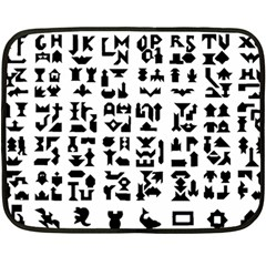 Anchor Puzzle Booklet Pages All Black Fleece Blanket (Mini)