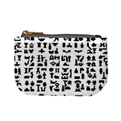 Anchor Puzzle Booklet Pages All Black Mini Coin Purses