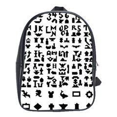 Anchor Puzzle Booklet Pages All Black School Bags(large)