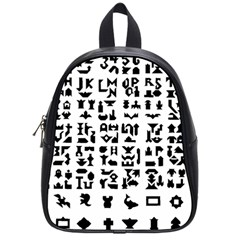 Anchor Puzzle Booklet Pages All Black School Bags (Small)