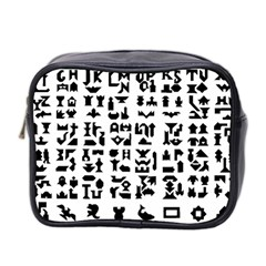 Anchor Puzzle Booklet Pages All Black Mini Toiletries Bag 2 Side