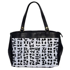Anchor Puzzle Booklet Pages All Black Office Handbags
