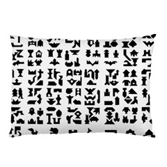 Anchor Puzzle Booklet Pages All Black Pillow Case (Two Sides)