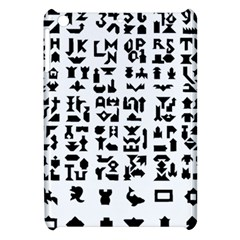 Anchor Puzzle Booklet Pages All Black Apple iPad Mini Hardshell Case