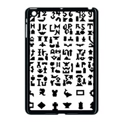 Anchor Puzzle Booklet Pages All Black Apple iPad Mini Case (Black)