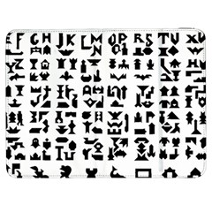 Anchor Puzzle Booklet Pages All Black Samsung Galaxy Tab 7  P1000 Flip Case