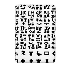 Anchor Puzzle Booklet Pages All Black Samsung Galaxy Tab 2 (10.1 ) P5100 Hardshell Case